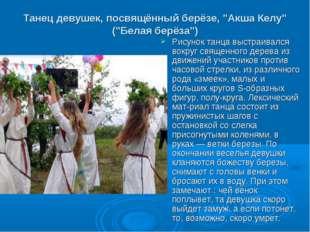 """Танец девушек, посвящённый берёзе, """"Акша Келу"""" (""""Белая берёза"""") Рисунок танца"""