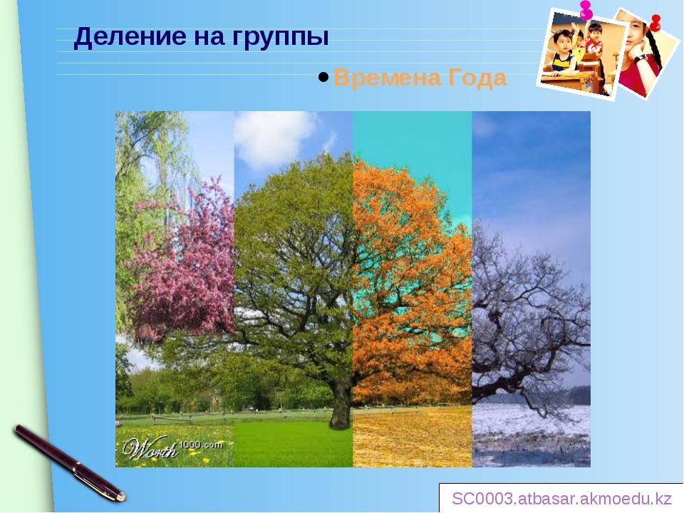 Деление на группы Времена Года SC0003.atbasar.akmoedu.kz www.themegallery.com
