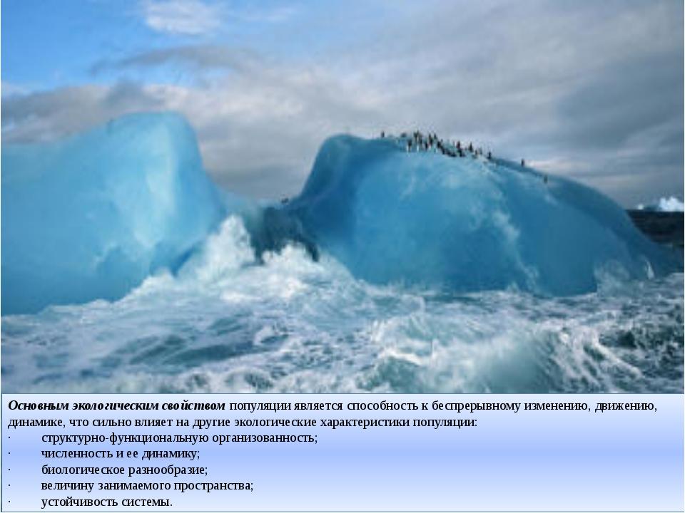 Основным экологическим свойствомпопуляции является способность к беспрерывно...