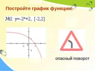 Постройте график функции: опасный поворот