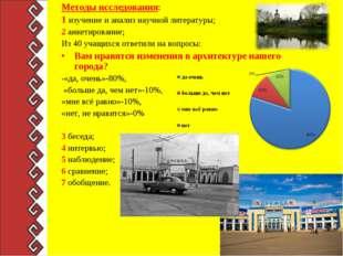 Методы исследования: 1 изучение и анализ научной литературы; 2 анкетирование;