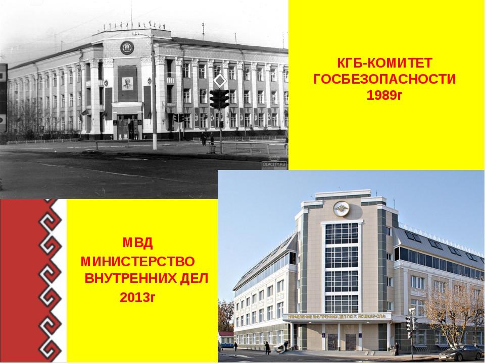 КГБ-КОМИТЕТ ГОСБЕЗОПАСНОСТИ 1989г МВД МИНИСТЕРСТВО ВНУТРЕННИХ ДЕЛ 2013г