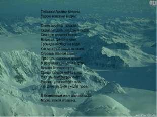 Пейзажи Арктики бледны, Порою вовсе не видны: Стена тяжёлых облаков Скрывает