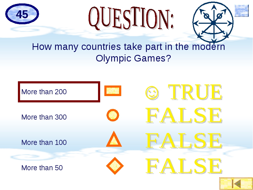 How many countries take part in the modern Olympic Games? More than 200 More...