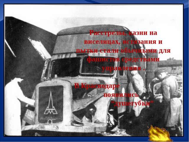 Расстрелы, казни на виселицах, истязания и пытки стали обычными для фашистов...