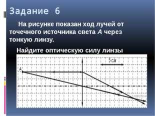 Задание 6 На рисунке показан ход лучей от точечного источника света А через т