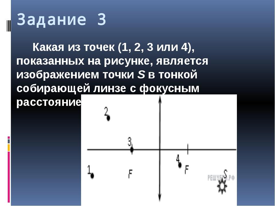 Задание 3 Какая из точек (1, 2, 3 или 4), показанных на рисунке, является изо...