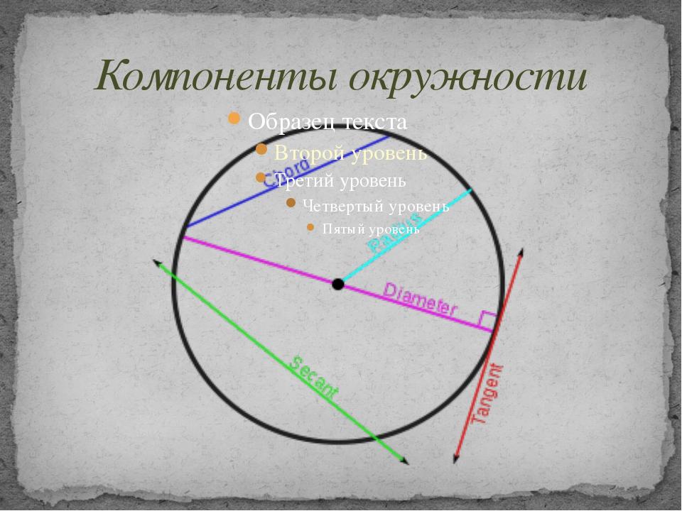 Компоненты окружности