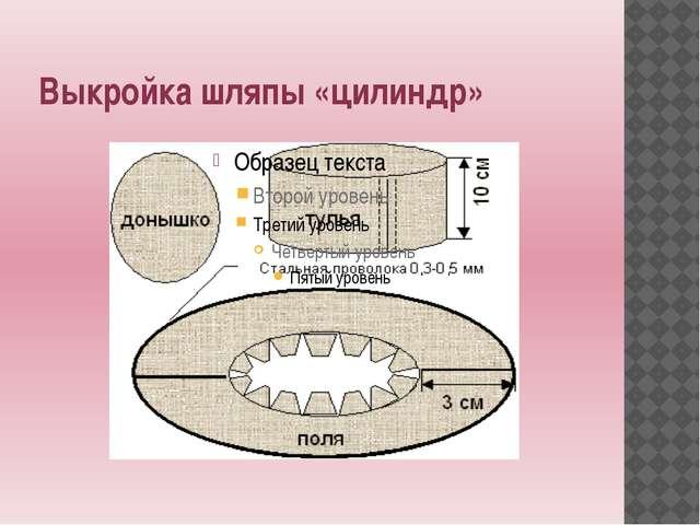 Выкройка шляпы «цилиндр»