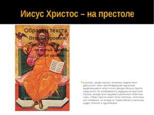 Иисус Христос – на престоле в центре, среди хорошо читаемых издали икон деису