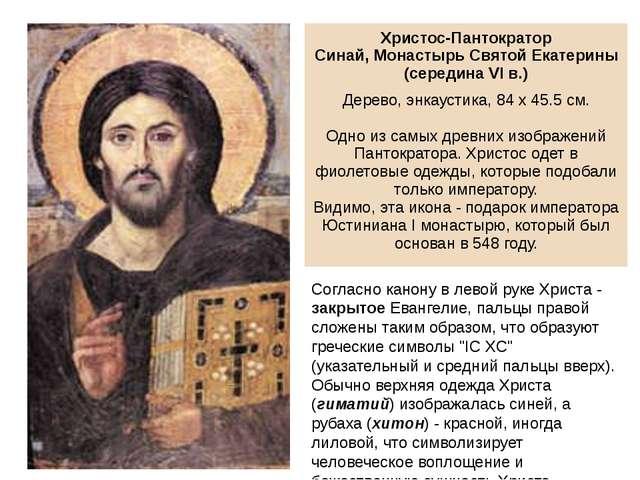 Согласно канону в левой руке Христа - закрытое Евангелие, пальцы правой сложе...