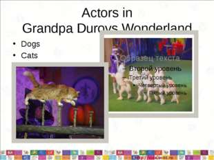 Actors in Grandpa Durovs Wonderland Dogs Cats