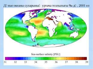 Дөнья океаны суларының уртача тозлылыгы ‰ дә, 2001 ел