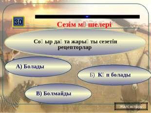 В) Болмайды Б) Формат- Создать слайд А) Вставка- Создать слайд 30 Соқыр дақт