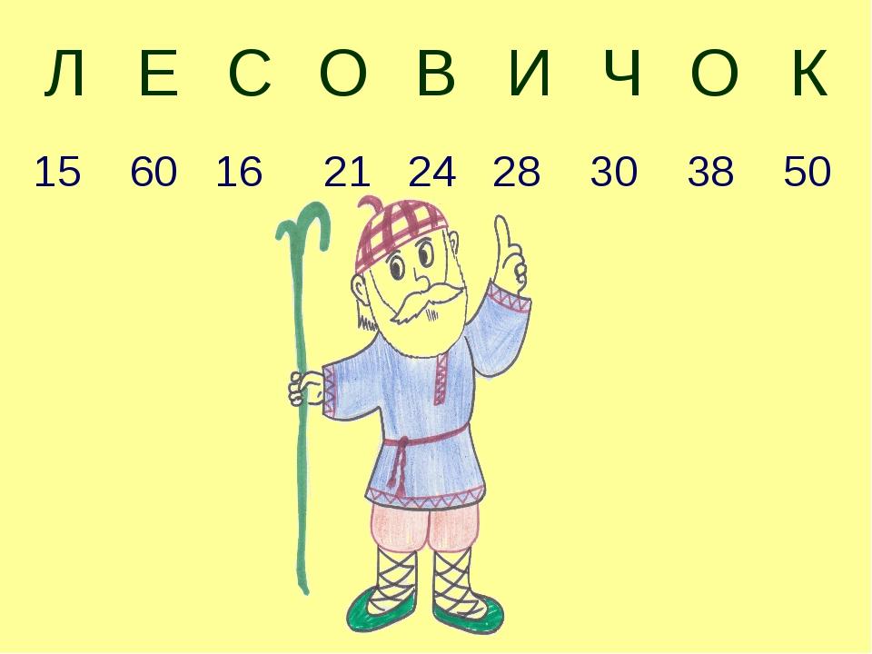 15 60 16 21 24 28 30 38 50 ЛЕСОВИЧОК