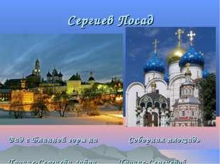 Сергиев Посад Вид с Блинной горы на Соборная площадь Троице-Сергиеву лавру. Т