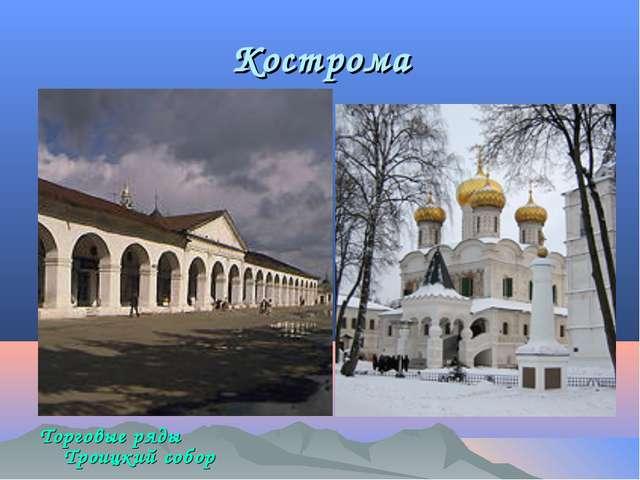 Кострома Торговые ряды Троицкий собор Ипатьевского монастыря.