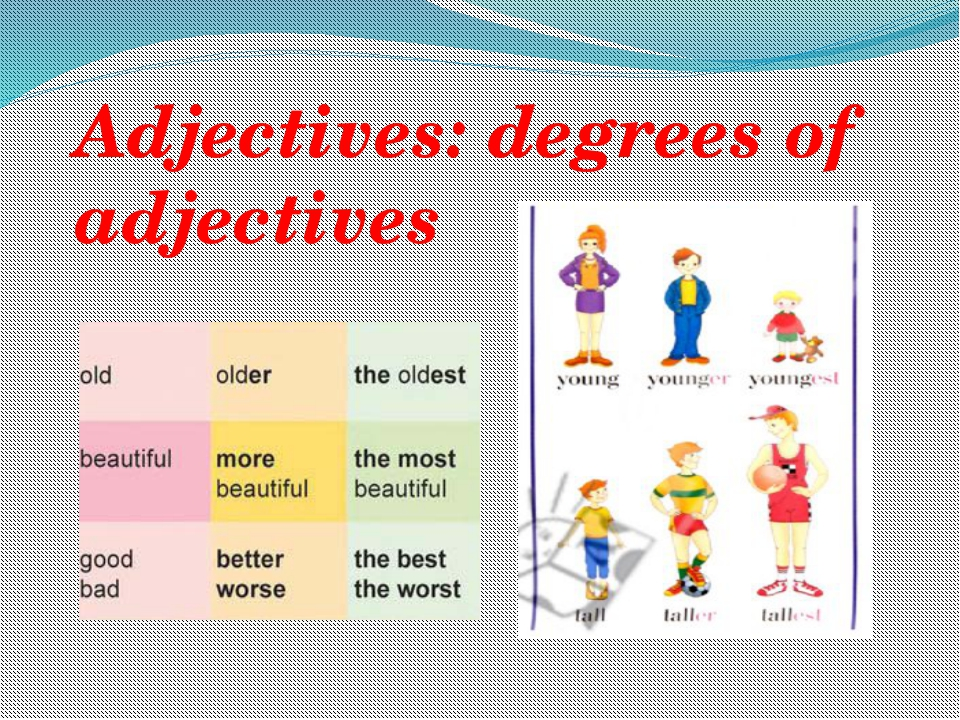 Adjectives: degrees of adjectives