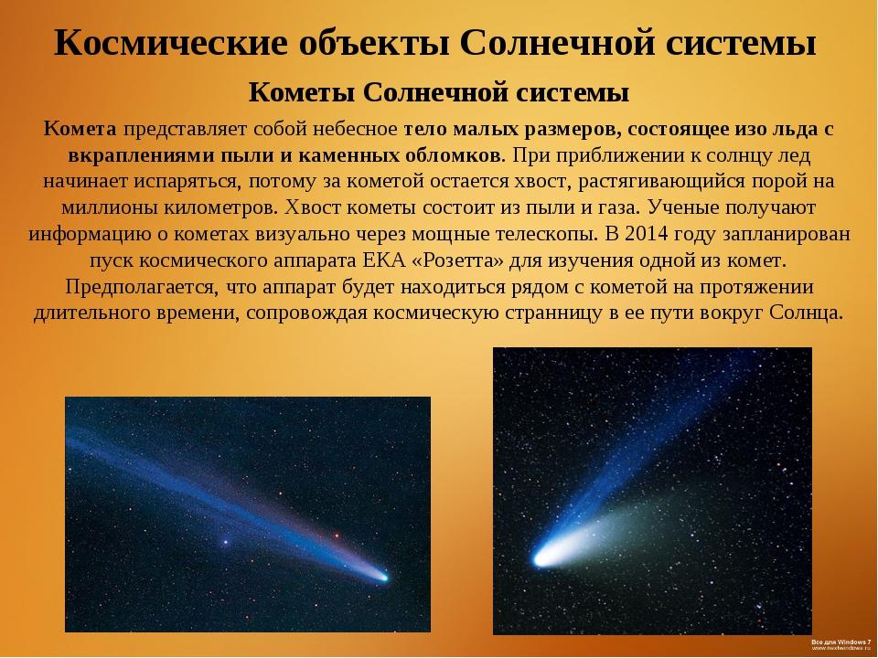 Космические объекты Солнечной системы Кометы Солнечной системы Комета предста...
