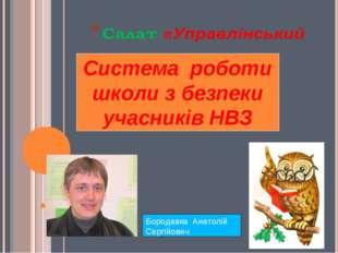 Система роботи школи з безпеки учасників НВЗ Бородавка Анатолій Сергійович