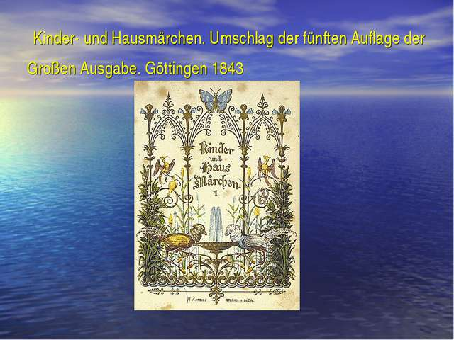 Kinder- und Hausmärchen. Umschlag der fünften Auflage der Großen Ausgabe. Gö...
