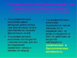 Ультрафиолетовое излучение возникает при изменении состояний электронов на вн