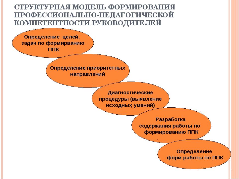 СТРУКТУРНАЯ МОДЕЛЬ ФОРМИРОВАНИЯ ПРОФЕССИОНАЛЬНО-ПЕДАГОГИЧЕСКОЙ КОМПЕТЕНТНОСТИ...