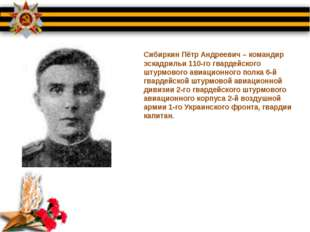 Сибиркин Пётр Андреевич – командир эскадрильи 110-го гвардейского штурмового