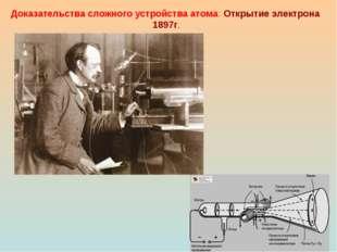 Доказательства сложного устройства атома: Открытие электрона 1897г.