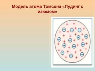 Модель атома Томсона «Пудинг с изюмом»