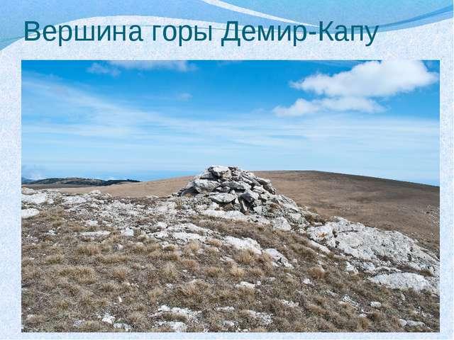 Вершина горы Демир-Капу