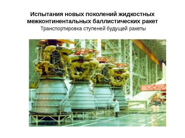 Испытания новых поколений жидкостных межконтинентальных баллистических ракет...