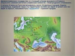 Древнеславянское государство со столицей в Киеве возникло в IX веке в резуль
