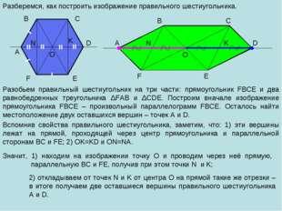 A B C D E F O Разберемся, как построить изображение правильного шестиугольник