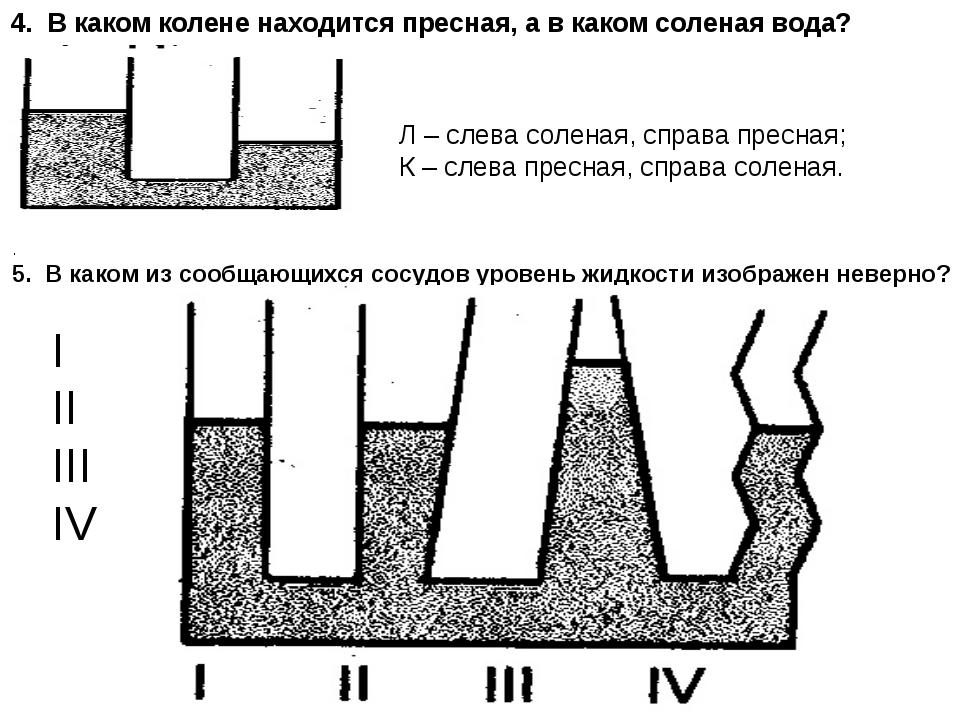 4. В каком колене находится пресная, а в каком соленая вода? . 5. В каком из...