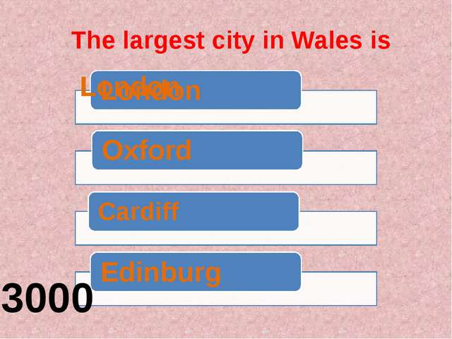 The largest city in Wales is 3000
