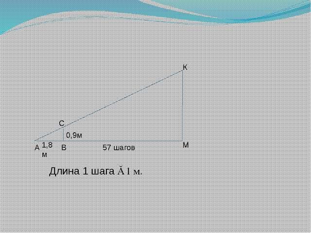 Длина 1 шага ≈ 1 м.