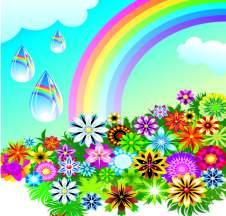 spring-rainbow-vector