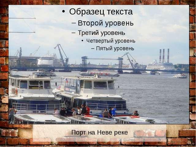 Порт на Неве реке