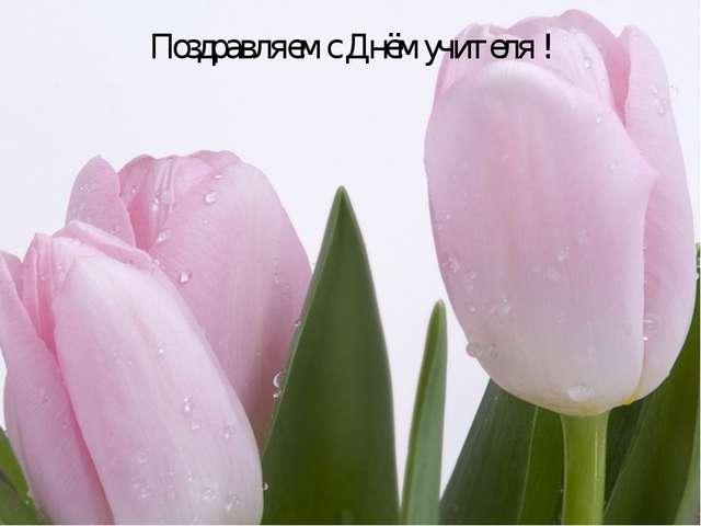 Поздравляем с Днём учителя !