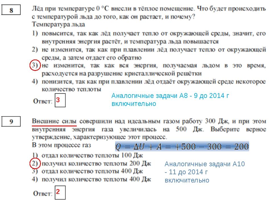 3 Аналогичные задачи А8 - 9 до 2014 г включительно 2 Аналогичные задачи А10...