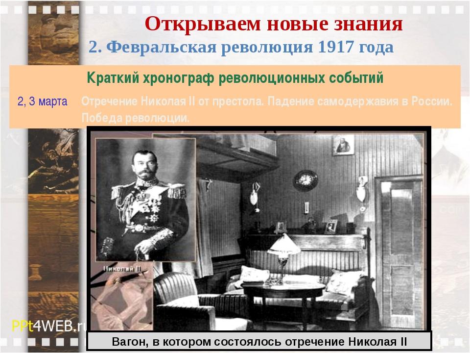 Открываем новые знания 2. Февральская революция 1917 года Вагон, в котором со...
