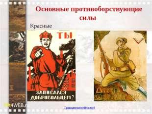Основные противоборствующие силы Красные Белые Гражданская война.mp4