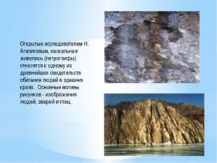 Открытые исследователем Н. Агапитовым, наскальная живопись (петроглифы) относ