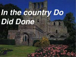 In the country Do Did Done