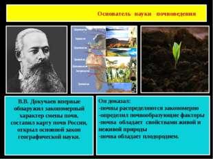 Основатель науки почвоведения Василий Васильевич Докучаев В.В. Докучаев вперв