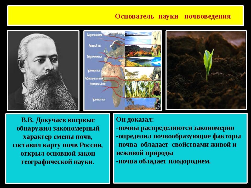 Основатель науки почвоведения Василий Васильевич Докучаев В.В. Докучаев вперв...