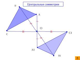 В А С О Центральная симметрия В1 А1 С1