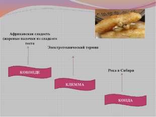 КОКОНДЕ КЛЕММА КОНДА Река в Сибири Электротехнический термин Африканская слад