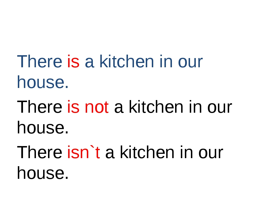 There is a kitchen in our house. There is not a kitchen in our house. There...